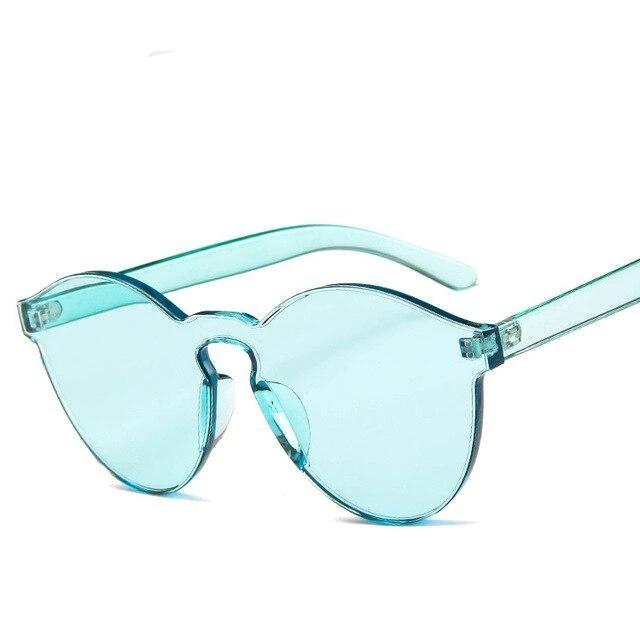 Sunglasses Candy Color Transparent light green - Rave On!® the club & techno scene shop for cool young fashion streetwear style & fashion outfits + sexy festival 420 stuff