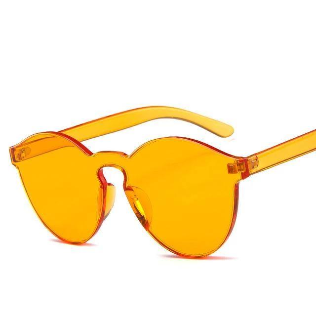 Sunglasses Candy Color Transparent orange - Rave On!® the club & techno scene shop for cool young fashion streetwear style & fashion outfits + sexy festival 420 stuff