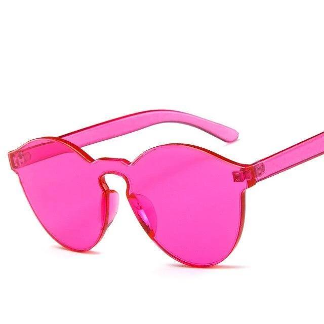 Sunglasses Candy Color Transparent pink 1 - Rave On!® the club & techno scene shop for cool young fashion streetwear style & fashion outfits + sexy festival 420 stuff