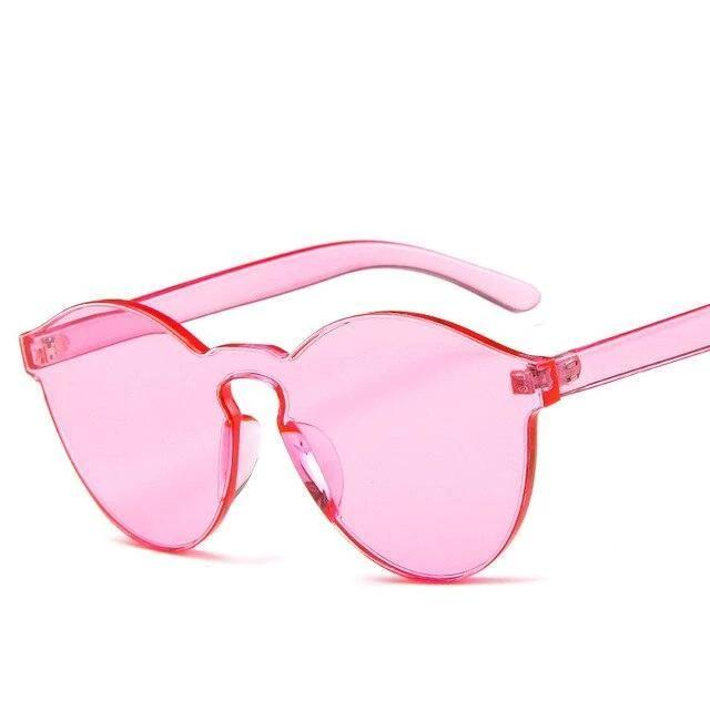 Sunglasses Candy Color Transparent pink - Rave On!® the club & techno scene shop for cool young fashion streetwear style & fashion outfits + sexy festival 420 stuff