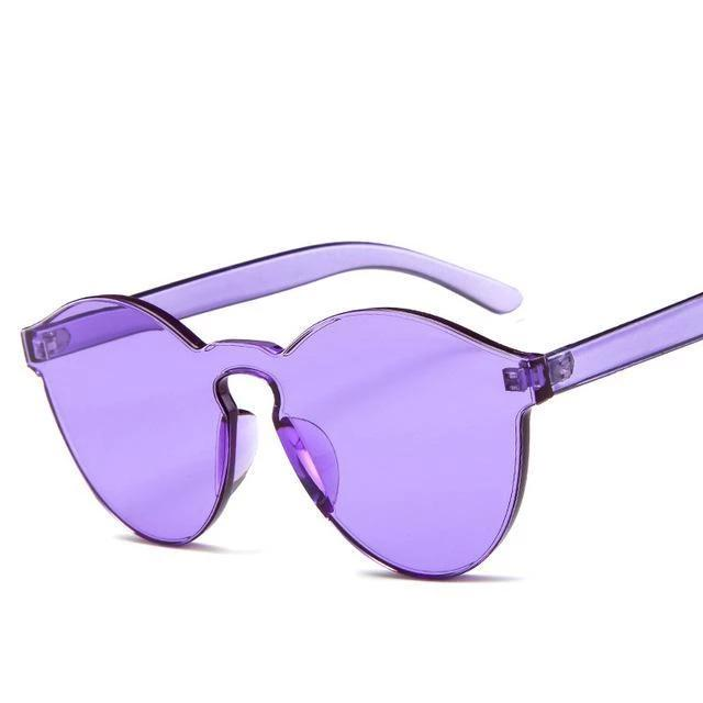 Sunglasses Candy Color Transparent purple - Rave On!® the club & techno scene shop for cool young fashion streetwear style & fashion outfits + sexy festival 420 stuff