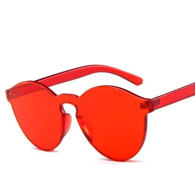 Sunglasses Candy Color Transparent red - Rave On!® the club & techno scene shop for cool young fashion streetwear style & fashion outfits + sexy festival 420 stuff