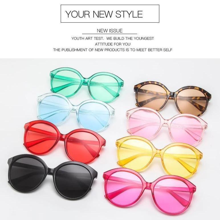 Sunglasses Candy Color Oversize Vintage - Rave On!® the club & techno scene shop for cool young fashion streetwear style & fashion outfits + sexy festival 420 stuff