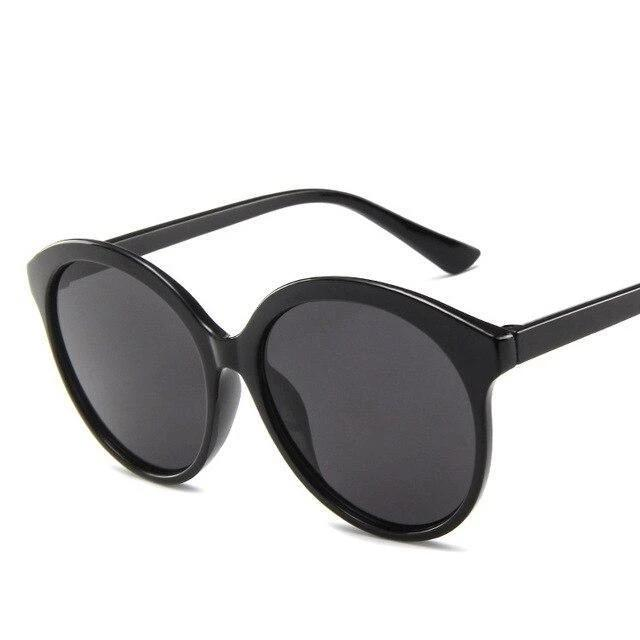 Sunglasses Candy Color Oversize Vintage black gray - Rave On!® the club & techno scene shop for cool young fashion streetwear style & fashion outfits + sexy festival 420 stuff