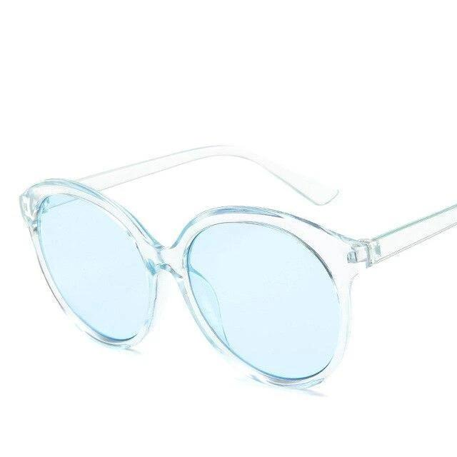 Sunglasses Candy Color Oversize Vintage clear blue - Rave On!® the club & techno scene shop for cool young fashion streetwear style & fashion outfits + sexy festival 420 stuff