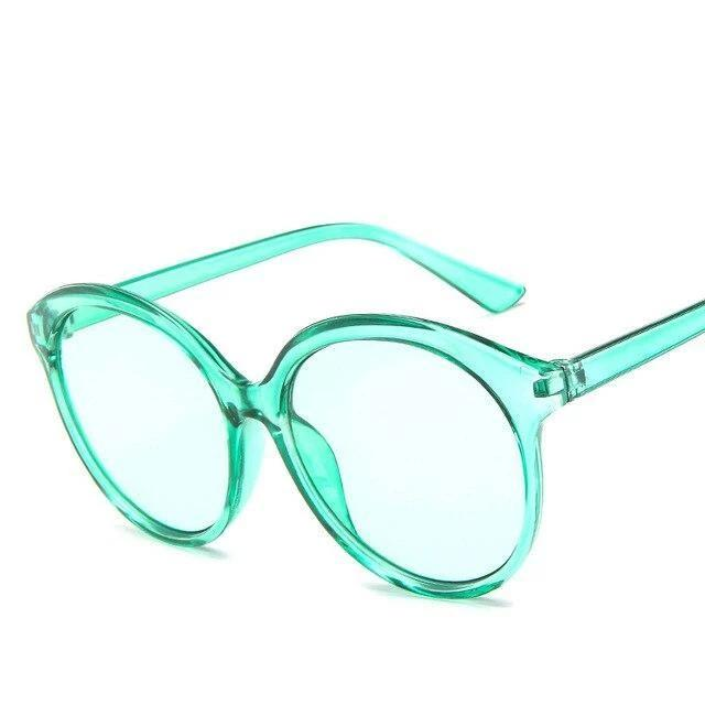 Sunglasses Candy Color Oversize Vintage clear green - Rave On!® the club & techno scene shop for cool young fashion streetwear style & fashion outfits + sexy festival 420 stuff
