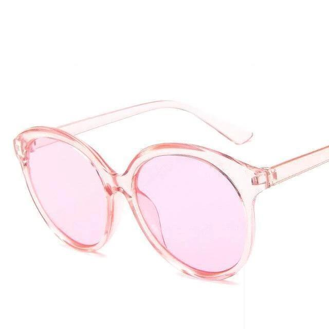 Sunglasses Candy Color Oversize Vintage clear pink - Rave On!® the club & techno scene shop for cool young fashion streetwear style & fashion outfits + sexy festival 420 stuff