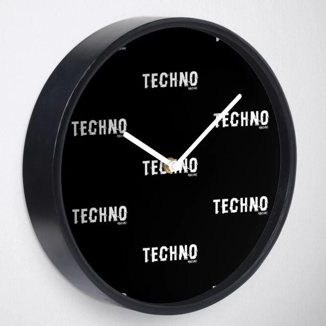 Everytime is Techno Time Rave On!® TECHNO Uhr-Rave-On! I www.rave-on.shop I Deine Rave & Techno Szene Shop I apparel, brand, christmas present, clock, deco, deko, geschenk, geschenkidee, home, On!®, present, Rave, rave apparel, rave brand, rave clothing, rave on!, Rave On!®, shifted, techno, time, uhr, zuhause, ® - Sexy Festival Streetwear , Clubwear & Raver Style