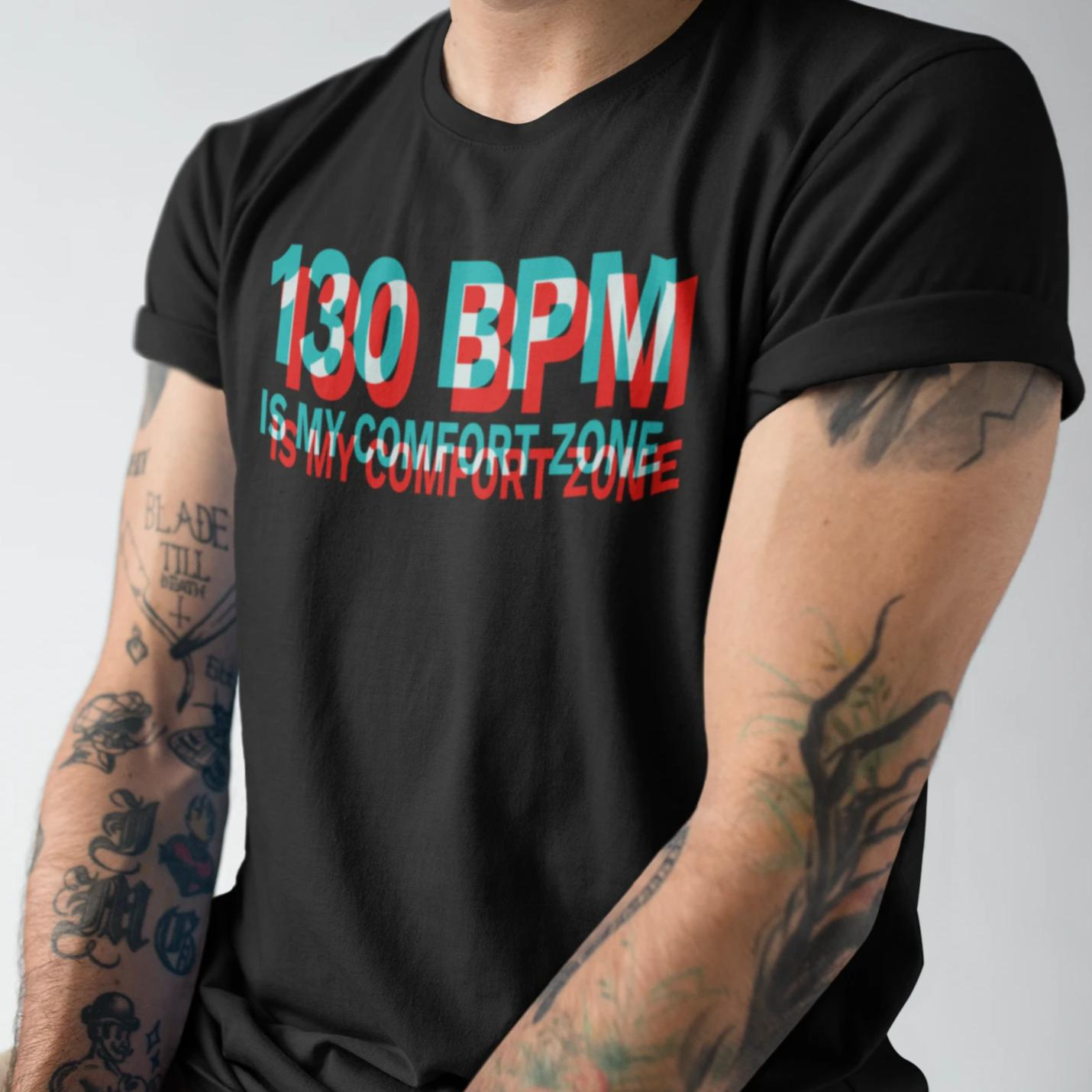 130 BPM - Rave On!® - Herren Long Tee Men Long Tee - Rave On!® der Club & Techno Szene Shop für Coole Junge Mode Streetwear Style & Fashion Outfits + Sexy Festival 420 Stuff