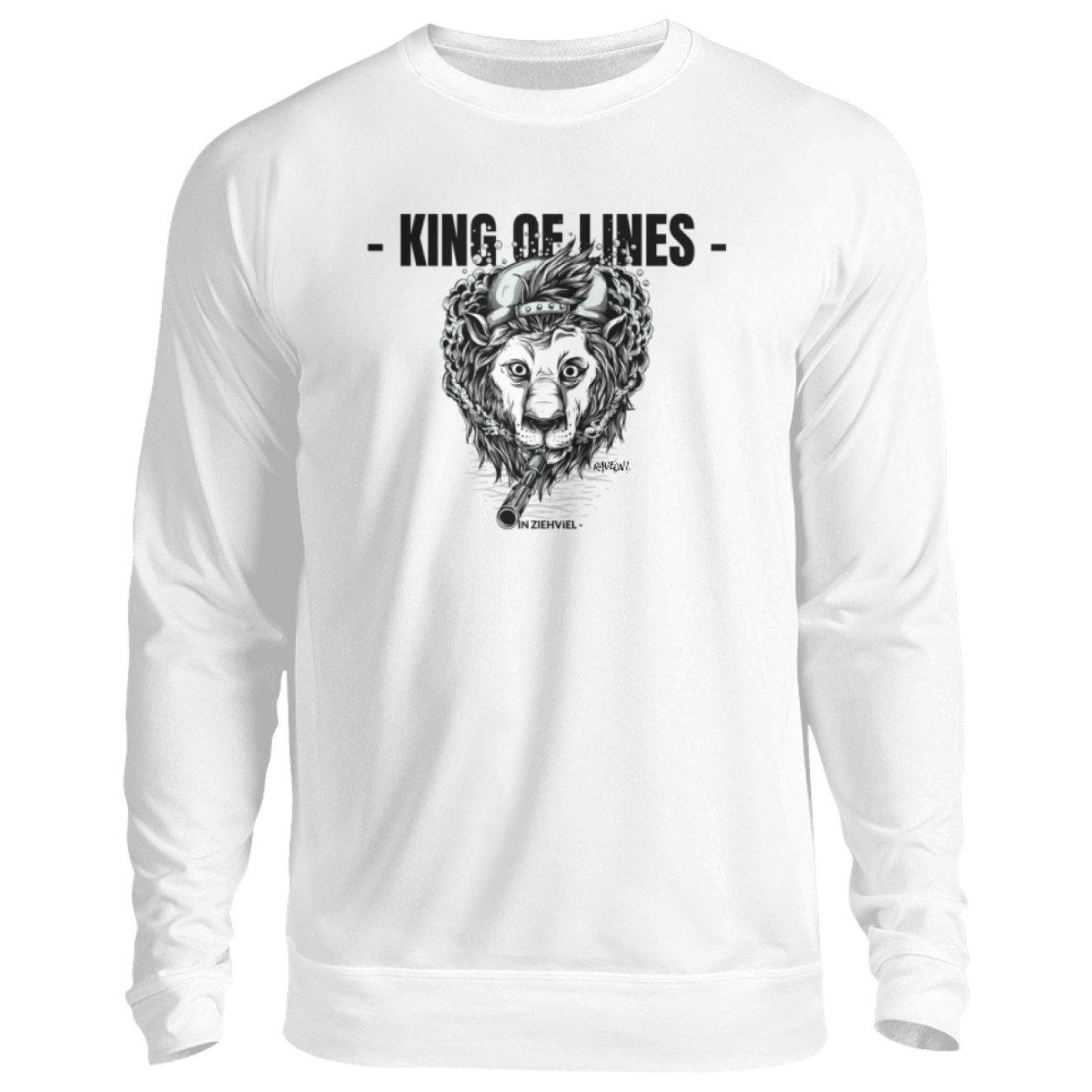 KING OF LINES - Rave On!® - Unisex Pullover Unisex Sweatshirt Arctic White / S - Rave On!® der Club & Techno Szene Shop für Coole Junge Mode Streetwear Style & Fashion Outfits + Sexy Festival 420 Stuff