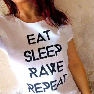 Eat Sleep Rave Repeat Rave On!® - Damen RollUp Shirt-Women Rollup Shirt-Rave-On!-Rave-On!