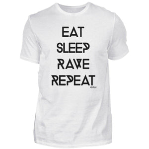 Eat Sleep Rave Repeat Rave On!® - Herren Shirt-Herren Basic T-Shirt-Rave-On!