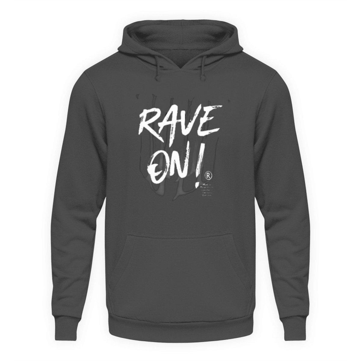 Rave On!® - Made On Planet Earth B2k20 - Unisex Kapuzenpullover Hoodie-Unisex Hoodie-Steel Grey (Solid)-L-Rave-On! I www.rave-on.shop I Deine Rave & Techno Szene Shop I brand, Design - Rave On!® - Made On Planet Earth B2k20, marke, on, rave, raver, techno - Sexy Festival Streetwear , Clubwear & Raver Style