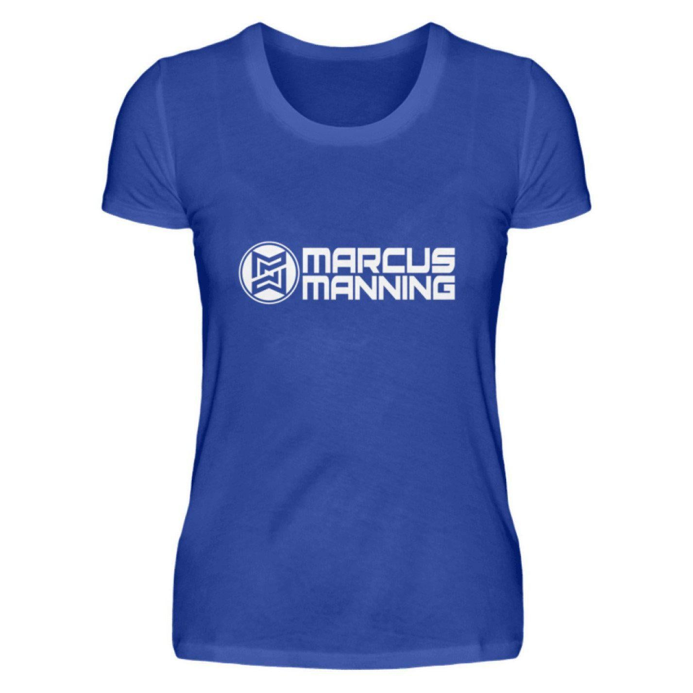 Marcus Manning Black Collection - Damenshirt Damen Basic T-Shirt Neonblau / S - Rave On!® der Club & Techno Szene Shop für Coole Junge Mode Streetwear Style & Fashion Outfits + Sexy Festival 420 Stuff