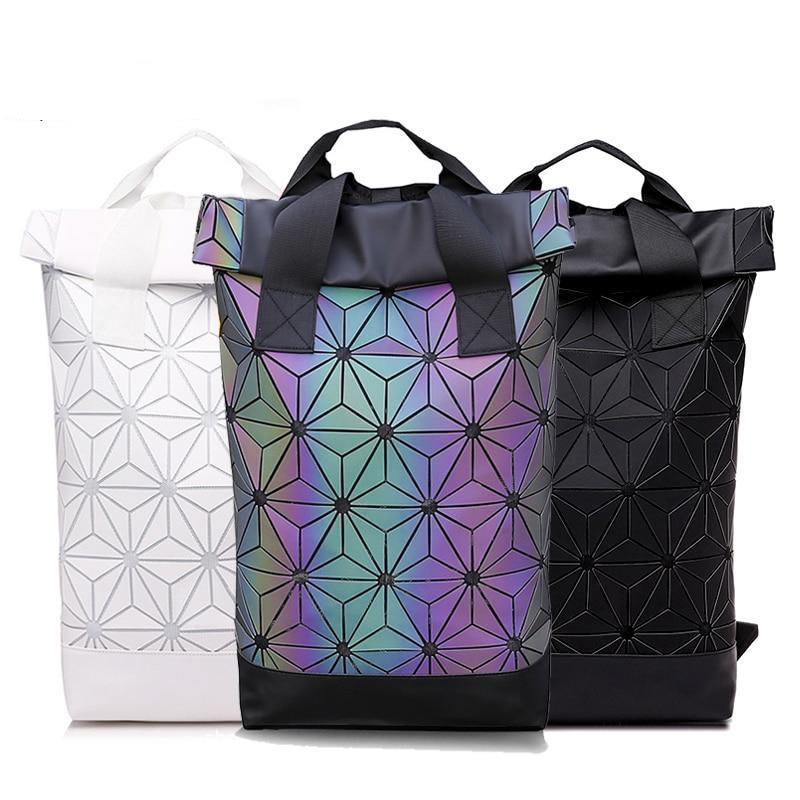 Holographic Geometric Luminous Backpack 49.95 Rave-On!  I WWW.RAVE-ON.SHOP