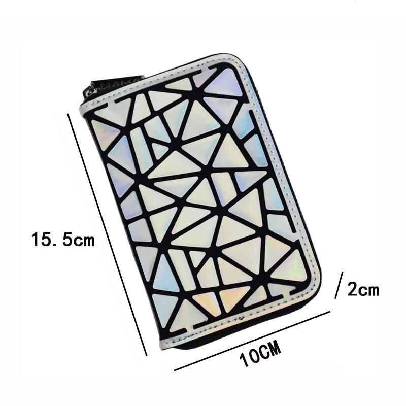 Holographic luminous wallet LUMI - Rave On!® the club & techno scene shop for cool young fashion streetwear style & fashion outfits + sexy festival 420 stuff
