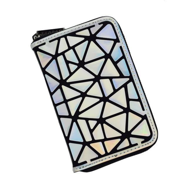 Holographic luminous wallet LUMI Colorful Short B - Rave On!® the club & techno scene shop for cool young fashion streetwear style & fashion outfits + sexy festival 420 stuff