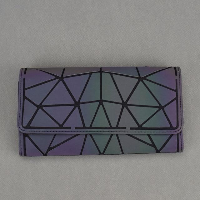 Holographic luminous wallet LUMI Luminous Long A - Rave On!® the club & techno scene shop for cool young fashion streetwear style & fashion outfits + sexy festival 420 stuff