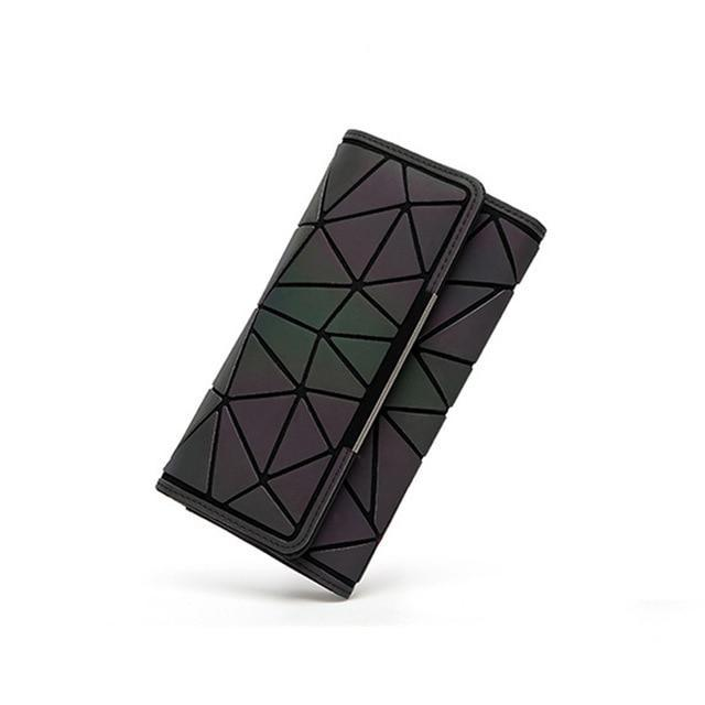 Holographic luminous wallet LUMI Luminous Long B - Rave On!® the club & techno scene shop for cool young fashion streetwear style & fashion outfits + sexy festival 420 stuff