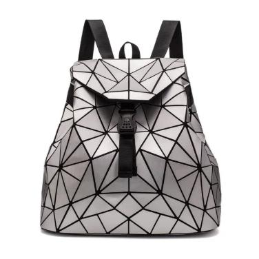 Holographische Mini Backpacks-Silver-Rave-On!-Rave-On!