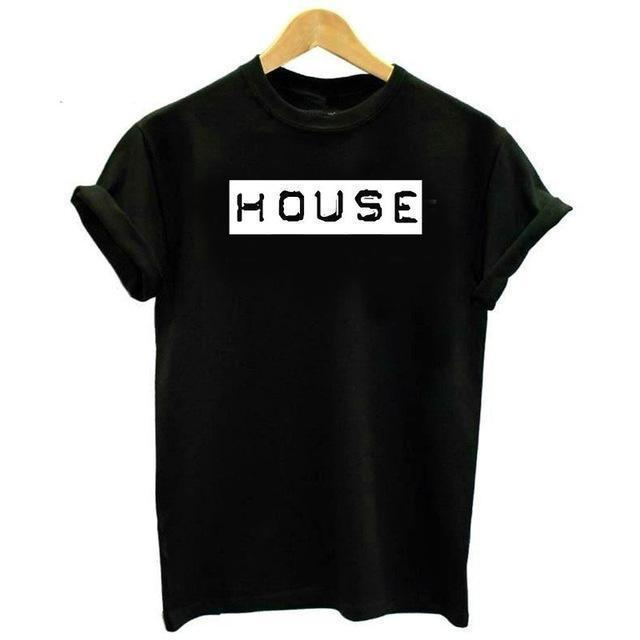 """HOUSE Club"" T-Shirt-Schwarz-S-Rave-On! I www.rave-on.shop I Deine Rave & Techno Szene Shop I cheap rave clothes, fatima, frauen, ladies, oberteil, rave attire, rave outfit, rave outfits, rave wear, shirt, tanktop, top - Sexy Festival Streetwear , Clubwear & Raver Style"