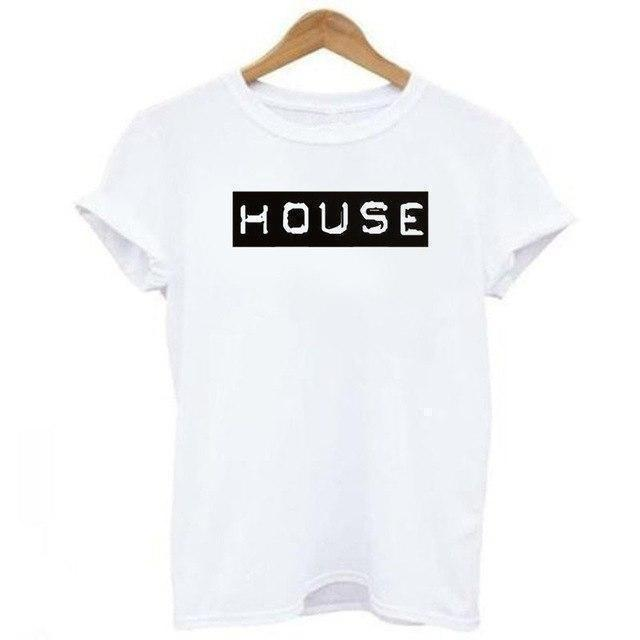 """HOUSE Club"" T-Shirt-Weiß-S-Rave-On! I www.rave-on.shop I Deine Rave & Techno Szene Shop I cheap rave clothes, fatima, frauen, ladies, oberteil, rave attire, rave outfit, rave outfits, rave wear, shirt, tanktop, top - Sexy Festival Streetwear , Clubwear & Raver Style"