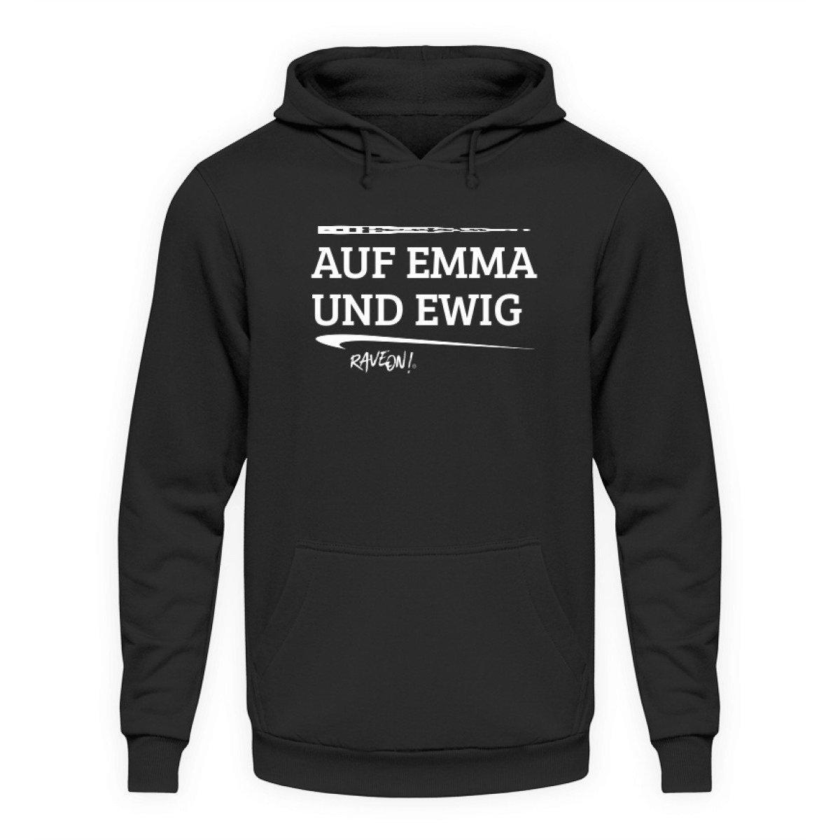 FOR EMMA AND FOREVER - Rave On!® - Unisex Hooded Sweater Hoodie Unisex Hoodie Jet Black / L - Rave On!® the club & techno scene shop for cool young fashion streetwear style & fashion outfits + sexy festival 420 stuff