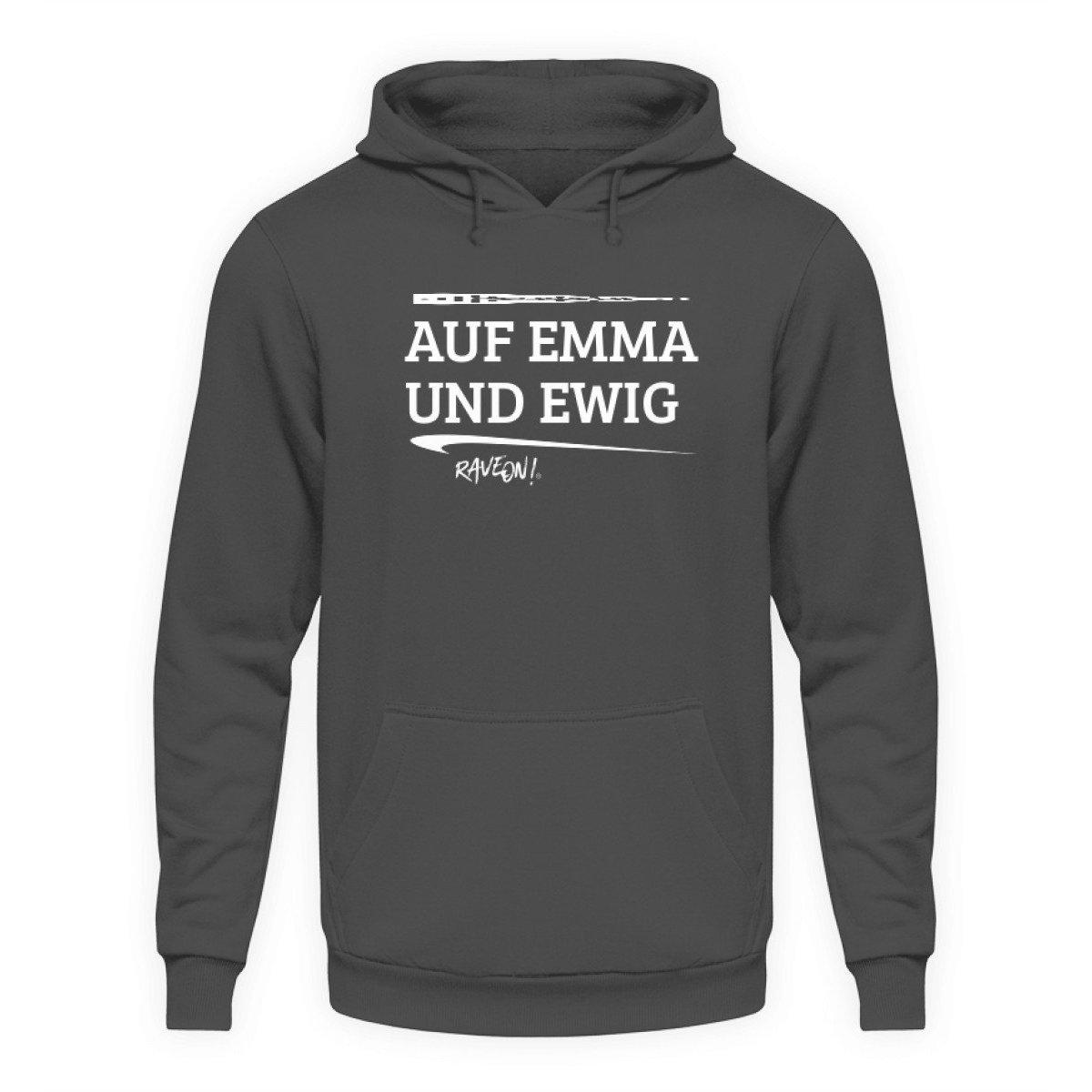 AUF EMMA UND EWIG - Rave On!® - Unisex Kapuzenpullover Hoodie Unisex Hoodie Steel Grey (Solid) / L - Rave On!® der Club & Techno Szene Shop für Coole Junge Mode Streetwear Style & Fashion Outfits + Sexy Festival 420 Stuff