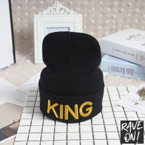 KING or QUEEN Mütze-Ear dome head cap se 1-All good elasticity-Rave-On!