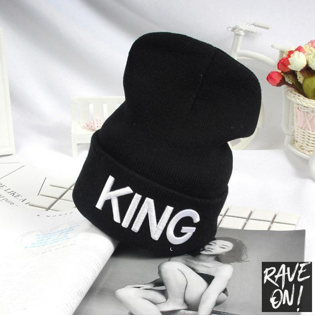 KING or QUEEN Beanie KING / All good elasticity - Rave On!® the club & techno scene shop for cool young fashion streetwear style & fashion outfits + sexy festival 420 stuff