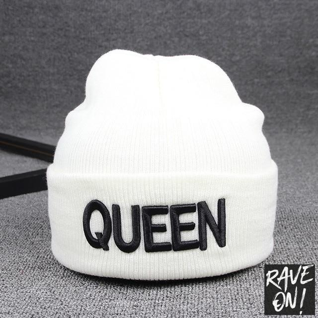KING or QUEEN hat White QUEEN / All good elasticity - Rave On!® the club & techno scene shop for cool young fashion streetwear style & fashion outfits + sexy festival 420 stuff