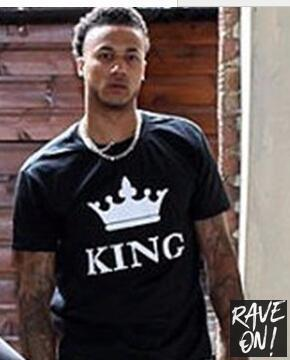 KING & QUEEN T-Shirts black king tshirt / S - Rave On!® the club & techno scene shop for cool young fashion streetwear style & fashion outfits + sexy festival 420 stuff