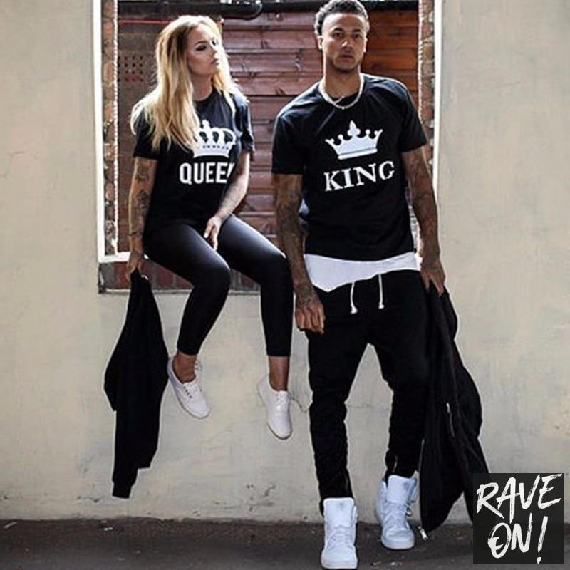 KING & QUEEN T-Shirts - Rave On!® the club & techno scene shop for cool young fashion streetwear style & fashion outfits + sexy festival 420 stuff