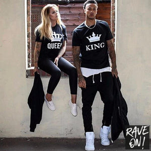 KING & QUEEN T-Shirts-Rave-On! I www.rave-on.shop I Deine Rave & Techno Szene Shop I i heart raves, rave attire, rave clothes, rave gear, rave wear - Sexy Festival Streetwear , Clubwear & Raver Style
