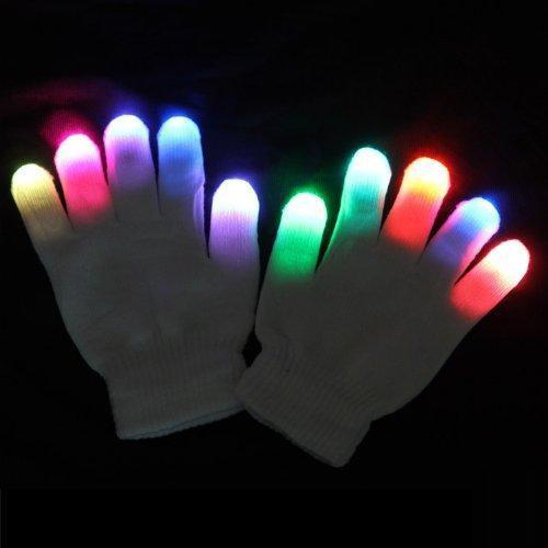 LED Raver Handschuhe in Weiß - Rave On!® der Club & Techno Szene Shop für Coole Junge Mode Streetwear Style & Fashion Outfits + Sexy Festival 420 Stuff