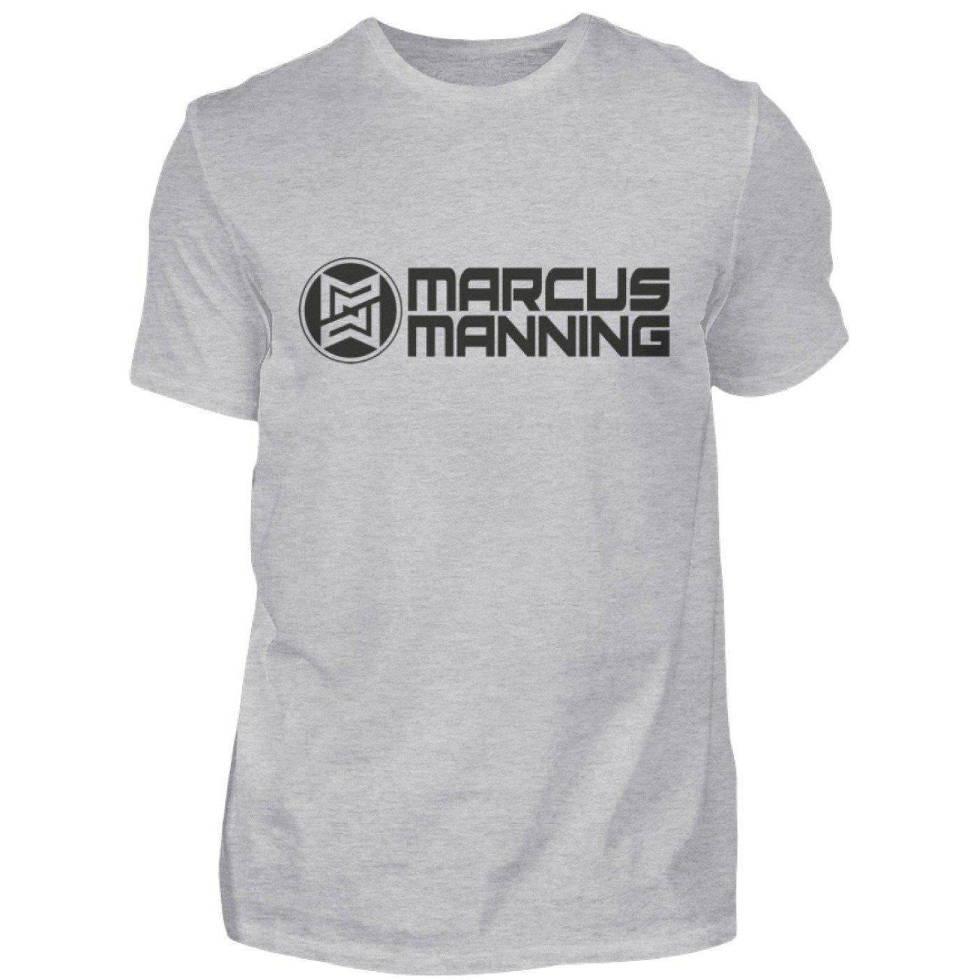 Marcus Manning Light Collection - Men's Shirt Men's Basic T-Shirt Gray (Mottled) / S - Rave On!® the club & techno scene shop for cool young fashion streetwear style & fashion outfits + sexy festival 420 stuff