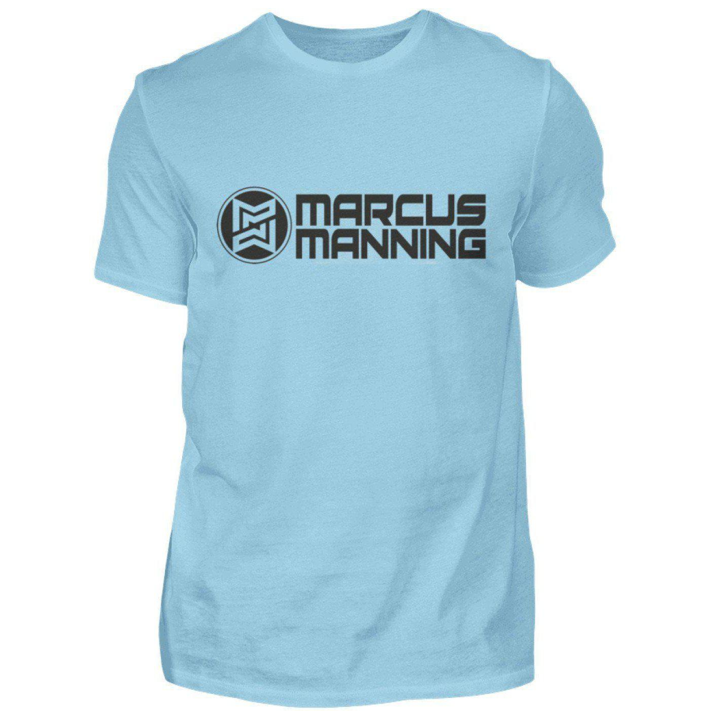 Marcus Manning Light Collection - Men's Shirt Men's Basic T-Shirt Sky Blue / S - Rave On!® the club & techno scene shop for cool young fashion streetwear style & fashion outfits + sexy festival 420 stuff