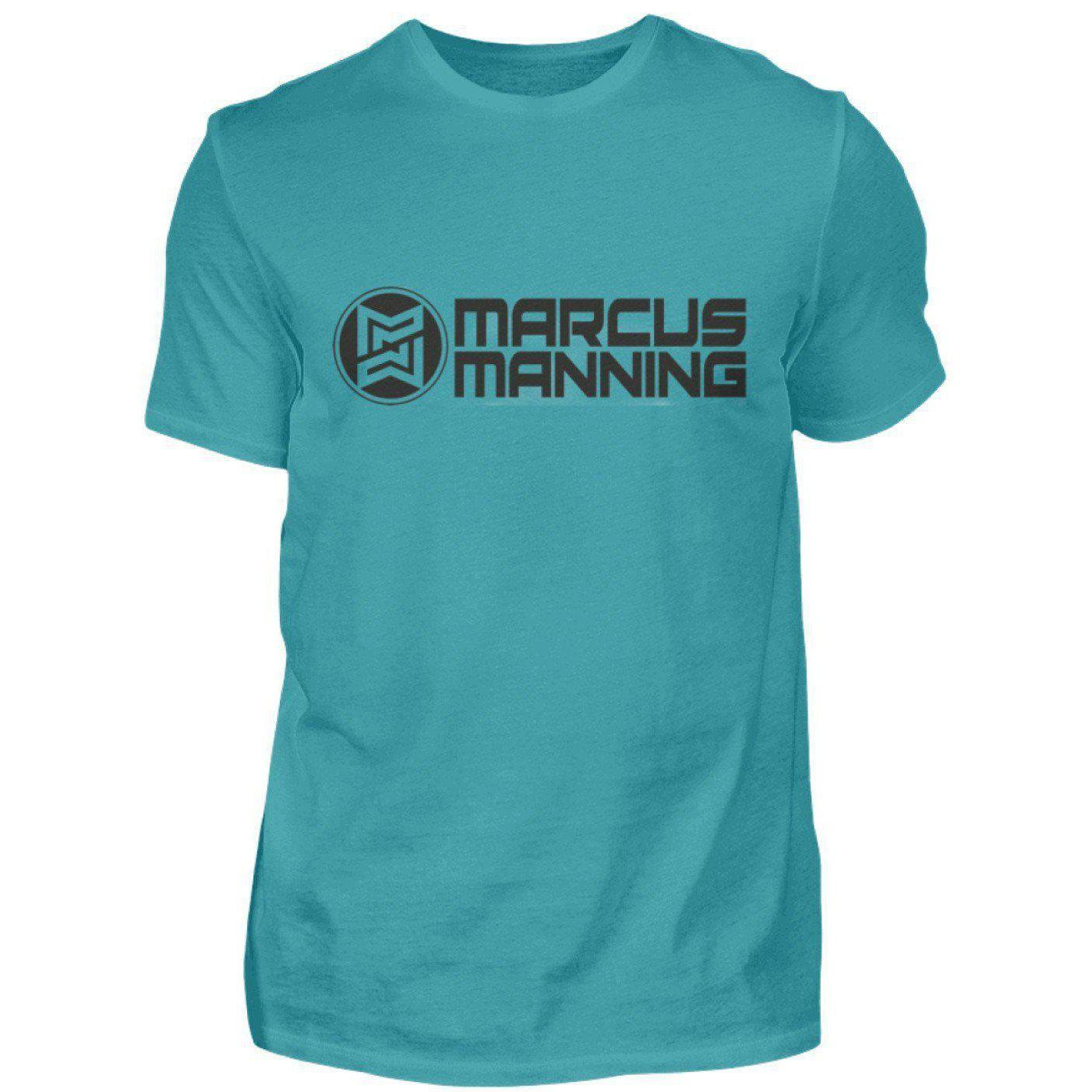 Marcus Manning Light Collection - Men's Shirt Men's Basic T-Shirt Pool Blue / S - Rave On!® the club & techno scene shop for cool young fashion streetwear style & fashion outfits + sexy festival 420 stuff