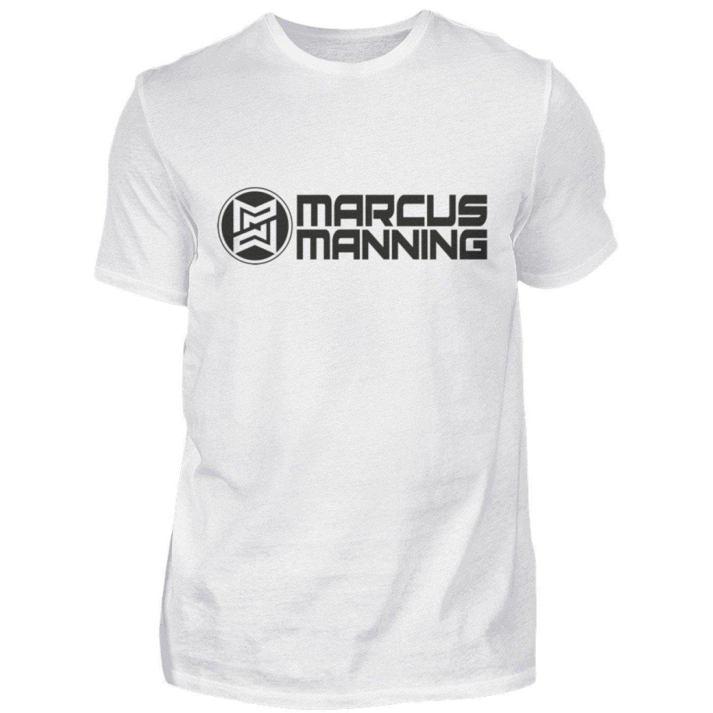 Marcus Manning Light Collection - Men's Shirt Men's Basic T-Shirt White / S - Rave On!® the club & techno scene shop for cool young fashion streetwear style & fashion outfits + sexy festival 420 stuff