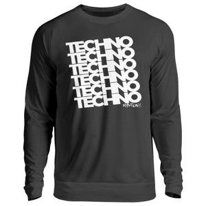TECHNO 6 Rave ON!® T-Shirt - Unisex Pullover-Unisex Sweatshirt-Jet Black-S-Rave-On! I www.rave-on.shop I Deine Rave & Techno Szene Shop I apparel, bopullover, boyfriend pullover, boypullover, Design - TECHNO 6 Rave ON!® T-Shirt, Electro, house, on, On!®, pullover boy, pullover boyfriend, rave, rave apparel, rave clothing, rave gear, rave on, Rave On!®, rave wear, raver, techno, ® - Sexy Festival Streetwear , Clubwear & Raver Style
