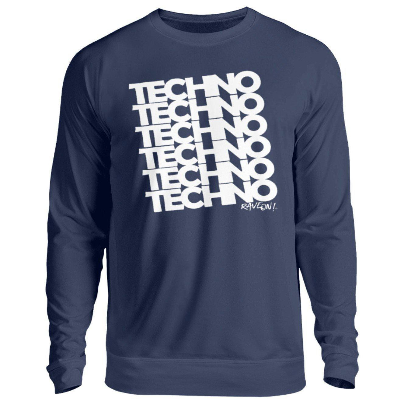 TECHNO 6 Rave ON!® T-Shirt - Unisex Pullover-Unisex Sweatshirt-New French Navy-S-Rave-On! I www.rave-on.shop I Deine Rave & Techno Szene Shop I apparel, bopullover, boyfriend pullover, boypullover, Design - TECHNO 6 Rave ON!® T-Shirt, Electro, house, on, On!®, pullover boy, pullover boyfriend, rave, rave apparel, rave clothing, rave gear, rave on, Rave On!®, rave wear, raver, techno, ® - Sexy Festival Streetwear , Clubwear & Raver Style
