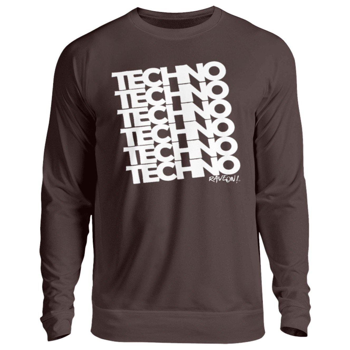 TECHNO 6 Rave ON!® T-Shirt - Unisex Pullover-Unisex Sweatshirt-Rave-On! I www.rave-on.shop I Deine Rave & Techno Szene Shop I apparel, bopullover, boyfriend pullover, boypullover, Design - TECHNO 6 Rave ON!® T-Shirt, Electro, house, on, On!®, pullover boy, pullover boyfriend, rave, rave apparel, rave clothing, rave gear, rave on, Rave On!®, rave wear, raver, techno, ® - Sexy Festival Streetwear , Clubwear & Raver Style