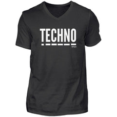Techno Music - Rave On!®  - Herren V-Neck Shirt