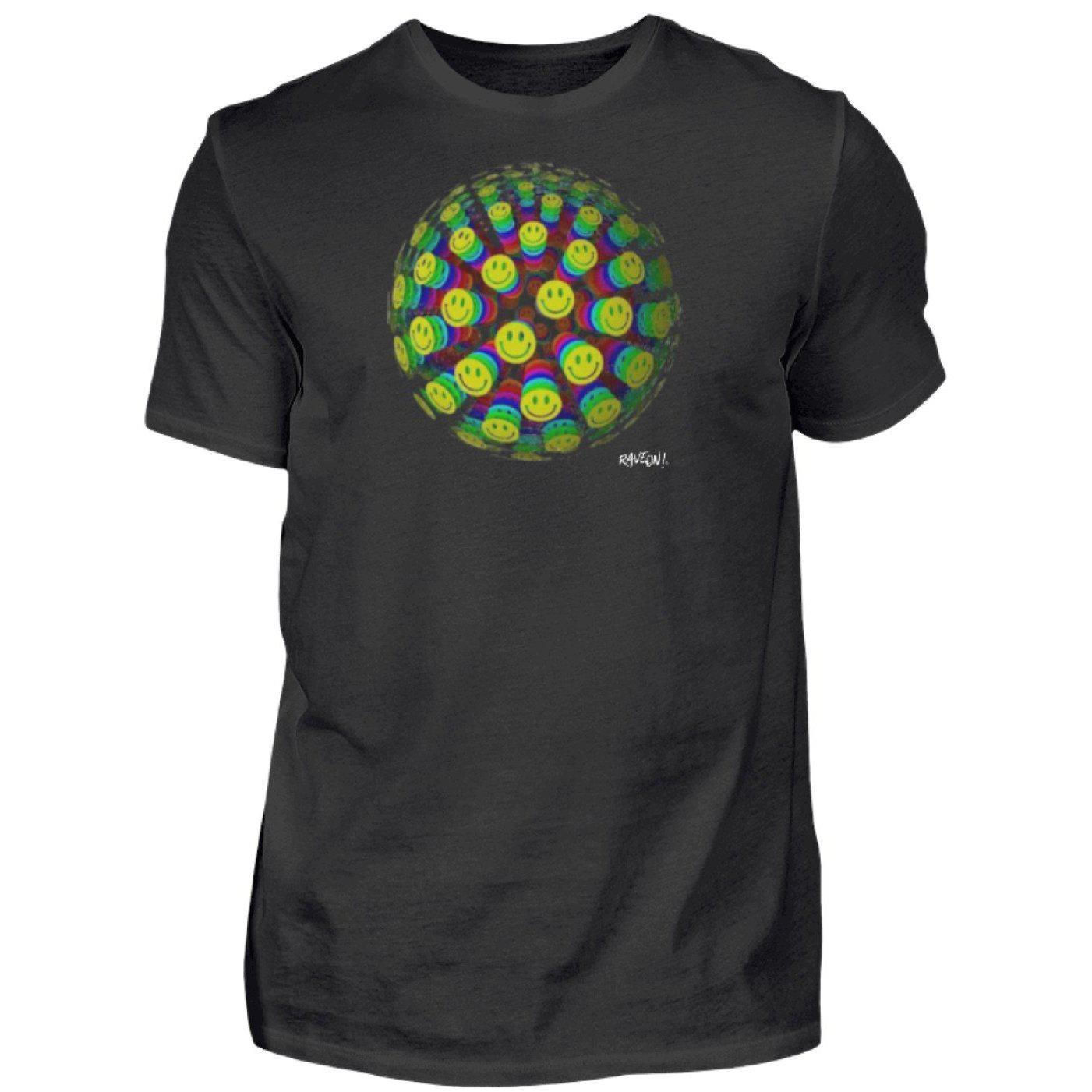 Smilie World - Rave On!® - Shirt-Herren Basic T-Shirt-Black-S-Rave-On! I www.rave-on.shop I Deine Rave & Techno Szene Shop I Ball, Design - Smilie World - Rave On!®, raver, Raver shirt, showcase, smilies shirt, smiling face shirt, techno, World - Sexy Festival Streetwear , Clubwear & Raver Style