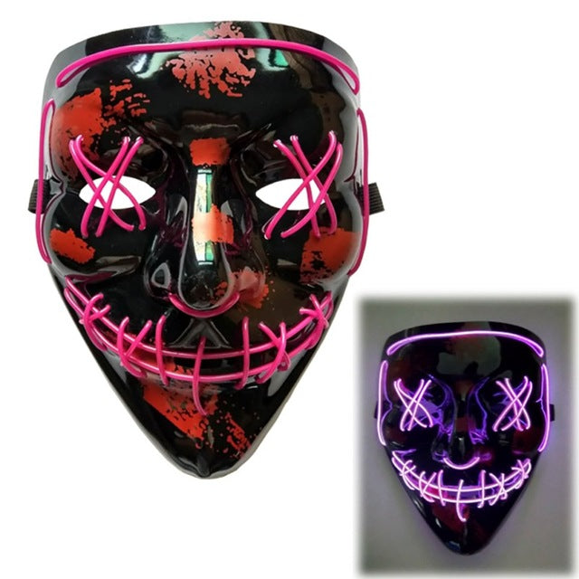 Light Up LED Mask - Rave Mask - Festival Mask Mask Purple - Rave On!® the club & techno scene shop for cool young fashion streetwear style & fashion outfits + sexy festival 420 stuff