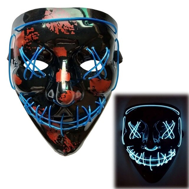 Light Up LED Mask - Rave Mask - Festival Mask Mask Blue - Rave On!® the club & techno scene shop for cool young fashion streetwear style & fashion outfits + sexy festival 420 stuff