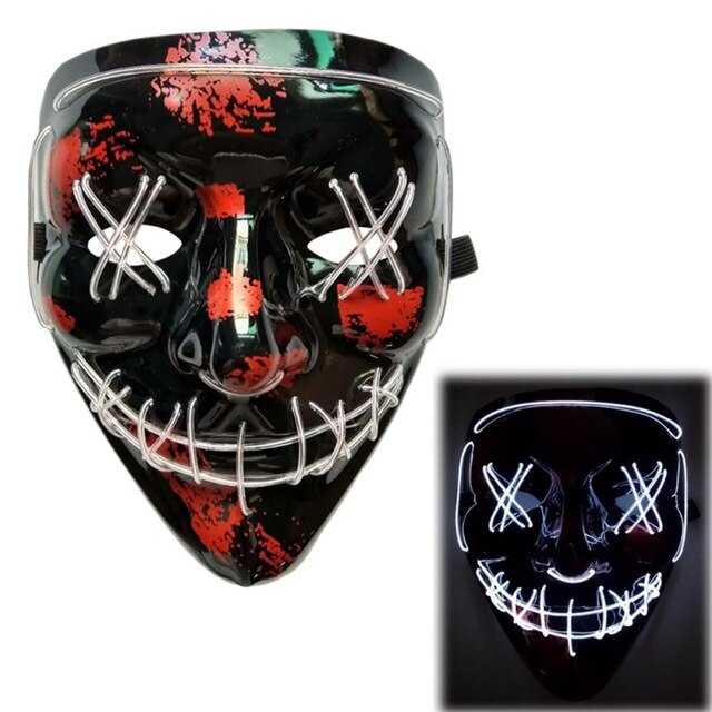 Light Up LED Mask - Rave Mask - Festival Mask Mask White - Rave On!® the club & techno scene shop for cool young fashion streetwear style & fashion outfits + sexy festival 420 stuff