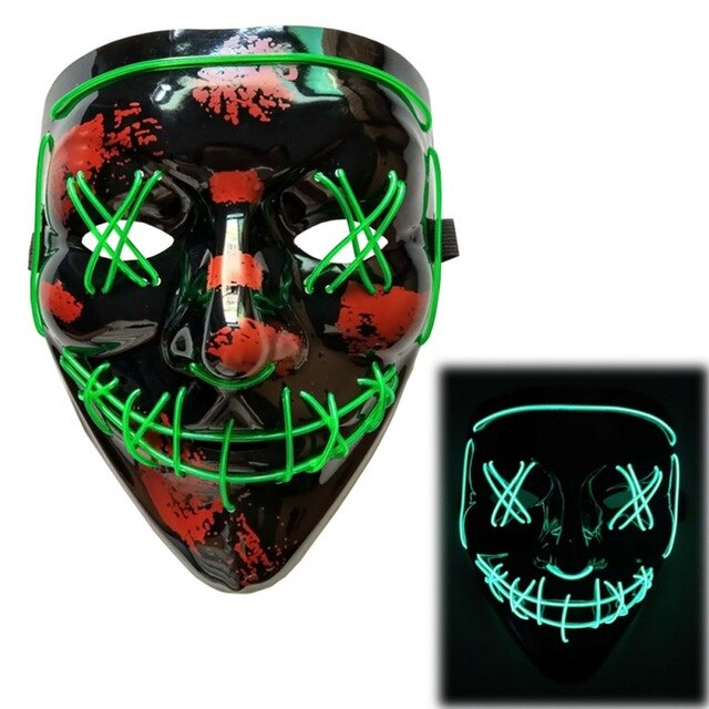 Light Up LED Mask - Rave Mask - Festival Mask Mask Green - Rave On!® the club & techno scene shop for cool young fashion streetwear style & fashion outfits + sexy festival 420 stuff