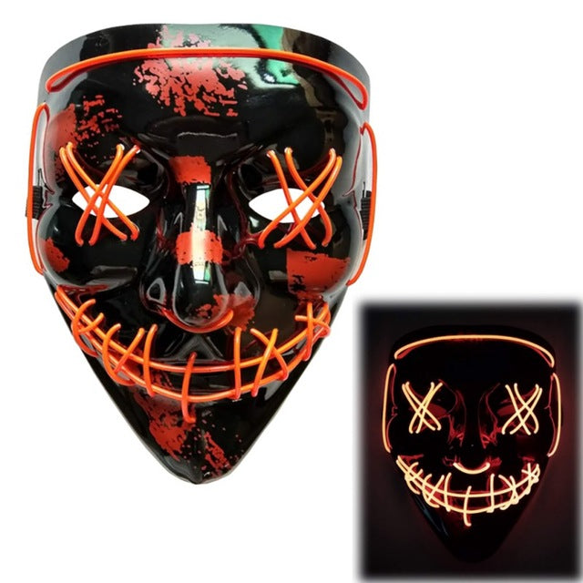 Light Up LED Mask - Rave Mask - Festival Mask Mask Red - Rave On!® the club & techno scene shop for cool young fashion streetwear style & fashion outfits + sexy festival 420 stuff