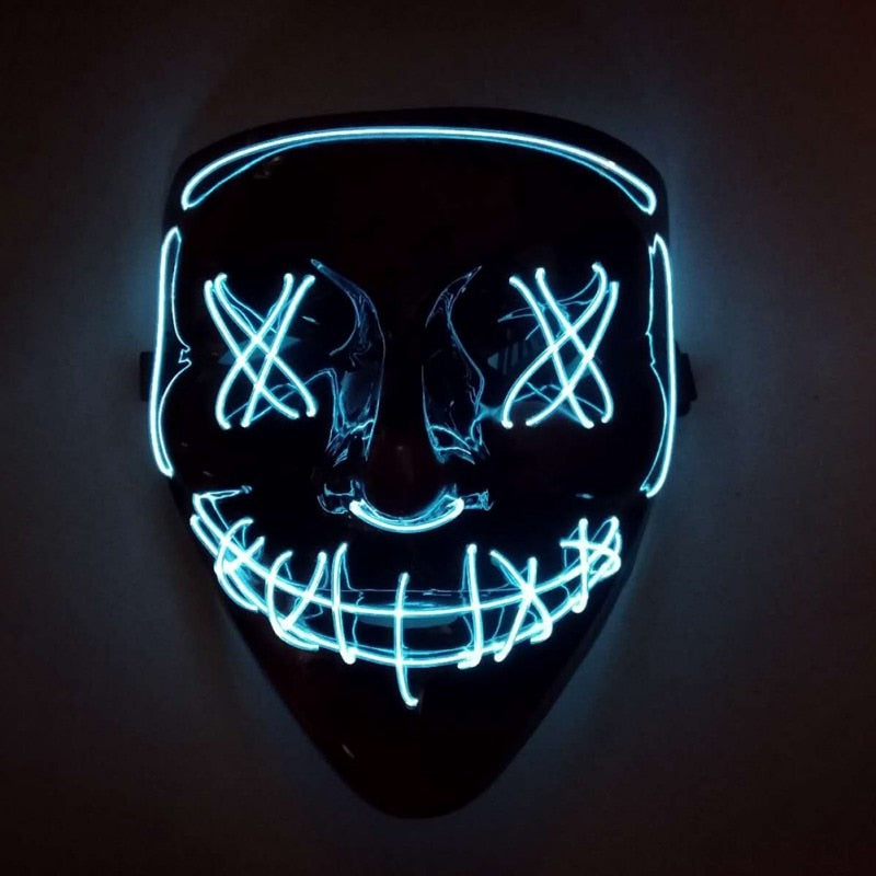 Light Up LED Mask - Rave Mask - Festival Mask Mask - Rave On!® the club & techno scene shop for cool young fashion streetwear style & fashion outfits + sexy festival 420 stuff